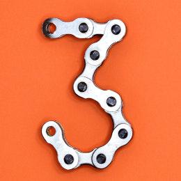 3 in bike chain