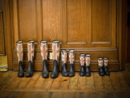 British family wellington boots