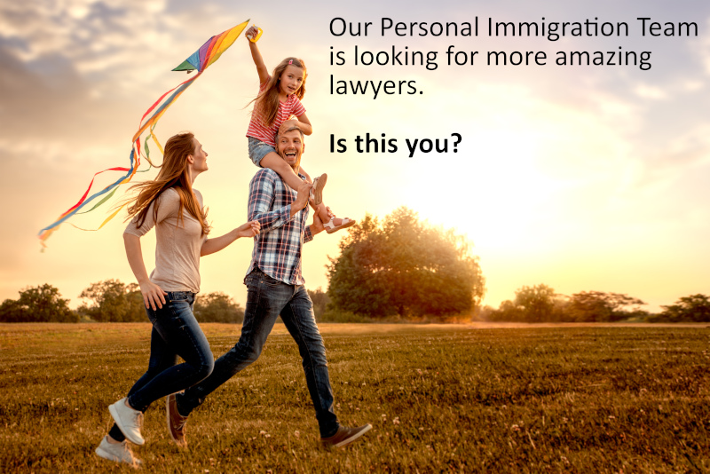 Personal Immigration Lawyer Recruitment